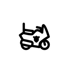 police motorcyle icon vector image