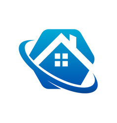 real estate house roicon vector image