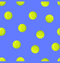 realistic detailed 3d tennis ball seamless pattern vector image