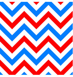 red and blue zigzag seamless pattern vector image