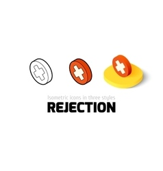Rejection icon in different style vector image