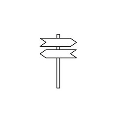 road navigate sign icon vector image