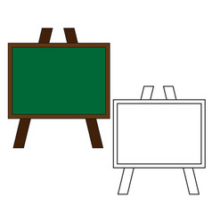 school board isolated on a white background vector image