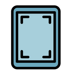 Screen record tablet icon color outline vector