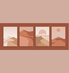 set modern covers in terracotta colors vector image