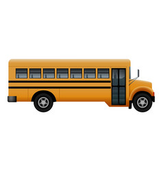Side door of school bus mockup realistic style vector