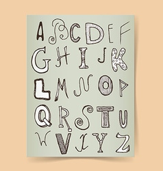 Sketch alphabet poster vector