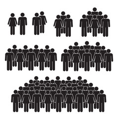 Staff crowd on white background vector
