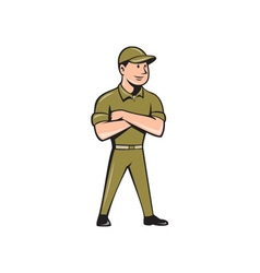 Tradesman Arms Crossed Isolated Cartoon vector
