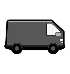 Truck flat vector