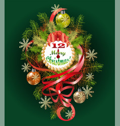 Typographical of the background with christmas vector