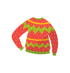 Warm knitted sweater on a vector