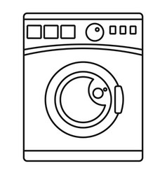 wash machine icon outline style vector image