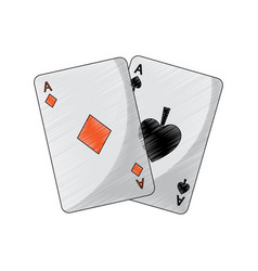 ace of spades diamonds suits french playing cards vector image vector image