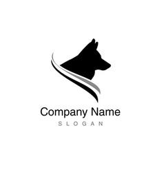 border collie logo vector image vector image
