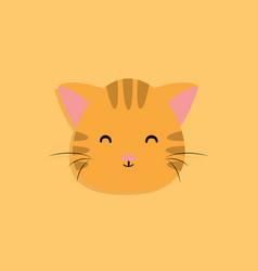 cat cartoon face vector image vector image
