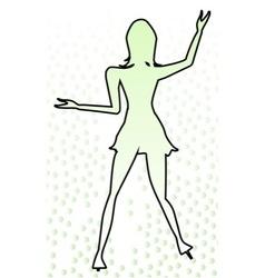 Dancing Girl Outline vector image vector image