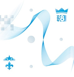 Decorative wavy template background with silky vector image