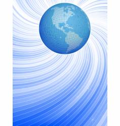 earth and dynamic lines vector image vector image
