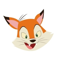fox cartoon icon vector image