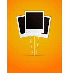 happy polaroid frame vector image