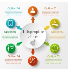 Infographic design chart vector image