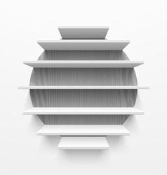 Wall shelves vector image vector image