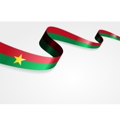 Burkina Faso flag background vector image