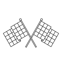 Chequered flags icon outline style vector