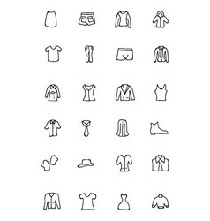 Clothes Hand Drawn Doodle Icons 4 vector image vector image
