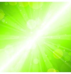Green blur vector image vector image