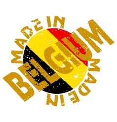 label Made in Belgium vector image vector image