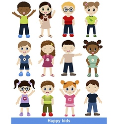 Set of different kids vector image