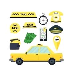 Taxi Transportation Service Set vector image vector image