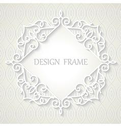 Vintage paper frame vector image vector image