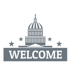 welcome to usa logo simple style vector image