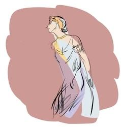 Woman dancing music vector image