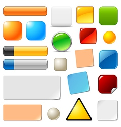 Blank web buttons and stickers vector image