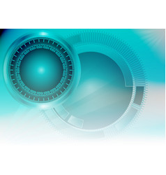 Blue color light abstract technology background vector