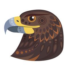 dark eagle head logo decorative emblem vector image