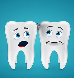 Debris stuck between the teeth and they are afraid vector image vector image