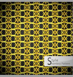lattice lotus flower ribbon gold vintage vector image