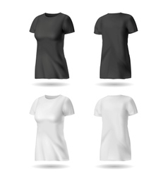 Black and White T shirt vector image vector image
