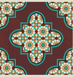 moroccan mosaic tile vector image