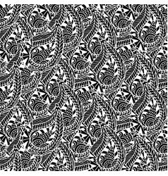 ornamental seamless pattern black and white vector image vector image