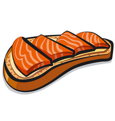 sandwich with salmon vector image