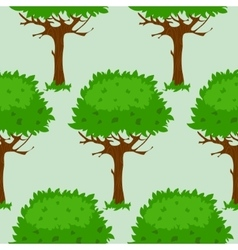 Seamless pattern with trees in summer or spring vector image