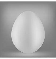 White Egg vector image vector image