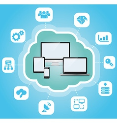 Abstract cloud computing vector image