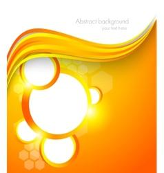 Abstract orange brochure vector image